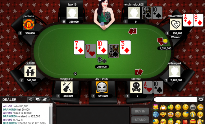 Poker Online screen